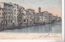 FIRENZE LUNGO ARNO TERGO DELLA VIA S. JACOPO VG AUTENTICA 100% - Firenze
