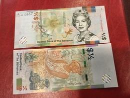BAHAMAS New  1/2 Dollar     Pnew  (serie  2019)   UNC - Bahamas