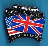 PIN'S //  ** U.S / SECTION / L.V.T.A. // LONDON VINTAGE TAXI ASSOCIATION ** . (© Qualité Collectors Série Limitée - Pins