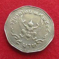 Thailand 5 Baht 1972 / 2515 Y# 98  Lt 140 Tailandia Thailande - Thaïlande