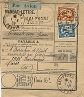MANDAT-LETTRE  Par Avion De  HAI-PHONG Tonkin - Indochine (1889-1945)