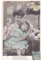"""CARTE FANTAISIE. SÉRIE COMPLÈTE  5 CARTES. MAMAN ET ENFANT  """" LE MARCHAND DE SABLE """" ANNEE 1907 - Enfants"""