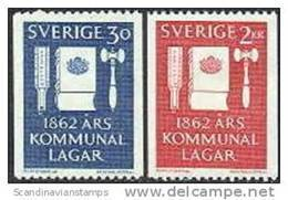 ZWEDEN 1962 Gemeentewet Serie PF-MNH - Schweden