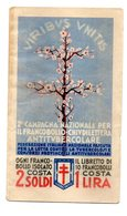 BF43 - ERINNOFILI-VIGNETTE CAMPAGNA ANTITUBERCOLARE-TUBERCOLOSI-1932 : LIBRETTO + PUBBLICITA' DIVERSE - Erinnofilia