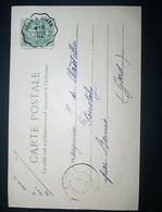 "Cachet Convoyeur ""ORAN A ALGER"" 1904 Indice=3 Frappe Superbe Cp Blida Vue Générale 2 Scans - Poststempel (Briefe)"