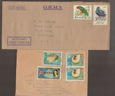 Cook Islands AITUTAKI O.H.M.S Birds Shells Covers - Cook Islands