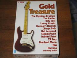 GOLD TREASURE  3 DVD  De Musique  Avec Entre Autres The Ramones  - Lenny Kravitz - Megadeath - The Animals - Billy Idol - Concert & Music