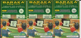 "Lot 3 Tickets ""BARAKA"" Grattage Française Des Jeux Série 37401 - Football"