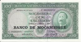 MOZAMBIQUE 100 ESCUDOS 1961 UNC P 117 - Mozambique