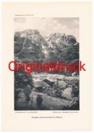 177 Dölsach Keilspitze Laserzwand Kunstblatt 1911 !! - Documents Historiques