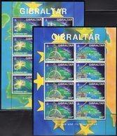 Europa 1994 Gibraltar 683/6 Kleinbogen ** 30€ Entdecker Diesel Curie Gallilei Penney Hb Bloc Space Sheetlet Bf CEPT - Gibraltar