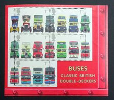 GB QEII 2001 SG.MS2215 Buses Miniature Sheet Mint Hinged. - Blocks & Miniature Sheets