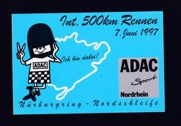 Aufkleber, Sticker, 500km Rennen 1997 Nürburgring, New , RARE ,look Scan !! 13.11-09 - Pins