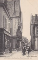 BOURGES - CHER - (18) - CPA ANIMÉE DE 1914 - TAMPON 60 EME RÉGIMENT D'ARTILLERIE.  . - Bourges