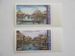 1988 Bénin Yv 663/4 ** MNH Bateaux Ships  Cote 4.00 € Michel 468/9  Scott 652/3  Village Lacustre De Ganvié - Benin – Dahomey (1960-...)
