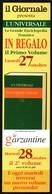 NEWSPAPER - ITALIA - SEGNALIBRO / BOOKMARK - IL GIORNALE - ENCICLOPEDIA L.UNIVERSALE - LE GARZANTINE - Segnalibri