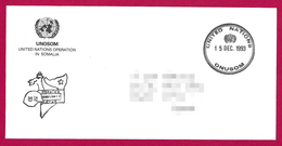 Enveloppe Expédiée En 1993 - Unided Nations - Onusom - Opération En Somalie - Militaire Stempels Vanaf 1900 (buiten De Oorlog)