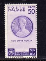 ITALIA REGNO ITALY KINGDOM 1936 ORAZIO BIMILLENARIO CENT. 50c MNH - 1900-44 Victor Emmanuel III.