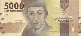 INDONESIE 5000 RUPIAH 2016 UNC P 156 - Indonésie