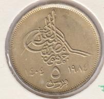 @Y@    Egypte   5  Piaster  1984    ( 3437 )  Variant - Egypte