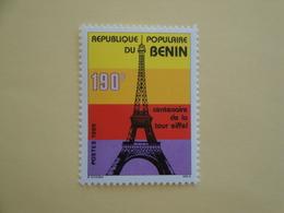 1989 Bénin Yv 673 ** MNH Tour Eiffel Cote 3.00 € Michel 480  Scott 661 - Benin – Dahomey (1960-...)