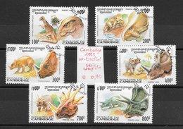 Préhistoire Dinosaure Styracosaure Triceratops - Cambodge N°1236 à 1241 1995 O - Prehistorics