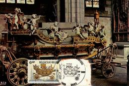 Belgique, Mons, Tourisme,La Procession Du Car D'Or 15-05-1980 COB N° 1976 - Cartes Souvenir