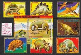 Préhistoire Dinosaure Ptérosaure - Guinée équatoriale N°122 (5v), PA N°113 (2v) & BF 1978 ** - Prehistorics