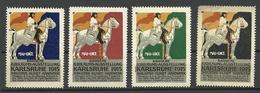 GERMANY 1915 Badische Jubiläums-Ausstellung Karlsruhe Industrie Kunst Handwerk Advertising Stamps Werbemarken MNH - Vignetten (Erinnophilie)