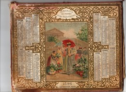 Calendrier Almanach Des Postes Et Télégraphes 1896 Oberthur Marché Aux Fleurs De La Madeleine Indre Et Loire - Calendriers