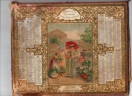 Calendrier Almanach Des Postes Et Télégraphes 1896 Oberthur Marché Aux Fleurs De La Madeleine Indre Et Loire - Calendari