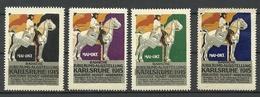 GERMANY 1915 Badische Jubiläums-Ausstellung Karlsruhe Industrie Kunst Handwerk Advertising Stamps Werbemarken MNH - Cinderellas