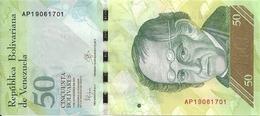 VENEZUELA 50 BOLIVARES 2015 UNC P 92 J - Venezuela