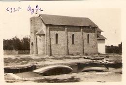 Photographie Petit Format, Agde (Hérault), Chapelle Et Canal, Photo De 1926, Bon état - Lugares