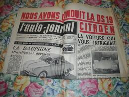 L'AUTO-JOURNAL Fév 1956. LA DAUPHINE. LA DS 19 CITROËN.  MOTO CSEPEL 250 - Auto
