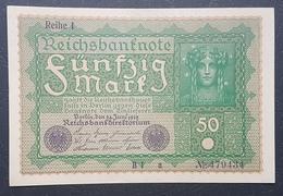EBN12 - Germany 1919 Banknote 50 Mark Pick 69b Reihe 1 #B1 A 479434 UNC - [ 3] 1918-1933 : Weimar Republic