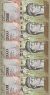 VENEZUELA 2000 BOLIVARES 2016 UNC P 96 ( 5 Billets ) - Venezuela