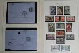 Frankreich 1945-1959 + 2 Alte Briefe, Gestempelte Sammlung - Timbres