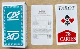 JEU DE 78 CARTES TAROT AVEC ETUI LOGO CREDIT AGRICOLE ( SUR LE COUVERCLE DE L'ETUIT MADE IN CHINA ) - Cartes à Jouer Classiques