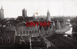 Carte Postale Photo Militaire Allemand GAND-GENT (Flandre Orientale-Flandern) Vue Sur La Ville  2 SCANS - Gent