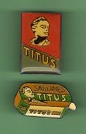 SARDINES *** TITUS *** Lot De 2 Pin's Differents *** 27-04 - Food