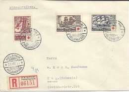 Finlande 1937 Timbres Surtaxe Pour Croix Rouge. Bateaux  Lettre Recommandée Pour La Suisse. Ship. Red Cross Switzerland. - Finland