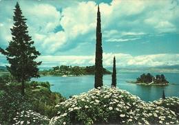 Corfou (Corfù, Grecia) Vue Vers Ponticonissi Et Canoni, View To Ponticonissi & Canoni, Panorama Di Ponticonissi E Canoni - Grecia