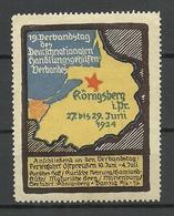 GERMANY 1924 Königsberg 19. Verbandstag D. Deutsch-nationalen Handlungsgehilfen-verbandes * - Cinderellas