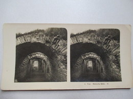 ALLEMAGNE - TRIER  - Römische Bäder - Photographie Stéréoscopique Souple -  TBE - Stereo-Photographie