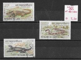 Reptile Crocodile Serpent Varan - Laos N°168 à 170 1967 O - Reptiles & Batraciens