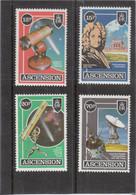 VV4 - ASCENSION PO 390 / 393 ** MNH - Edmond HALLEY Astronome Et TELESCOPE - - Ascension (Ile De L')