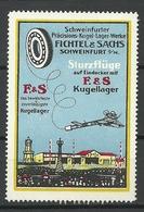 GERMANY Schweinfurfter Kugel-Lager-Werke Fichtel & Sachs Sturzflüge Kugellager Flugzeug * - Erinnophilie
