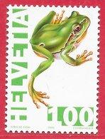 Reptile Grenouille Rainette - Suisse N°1474 1F 1995 ** - Grenouilles