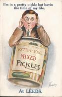 ANGLETERRE  /  LEEDS  /  Extra-Fine Mixed  Pickles  /  Carte à  Système  Avec  Dépliant - Leeds